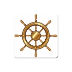 Boat Wheel Transparent Clip Art Square Magnet