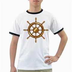 Boat Wheel Transparent Clip Art Ringer T Shirts