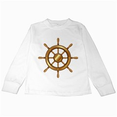 Boat Wheel Transparent Clip Art Kids Long Sleeve T Shirts