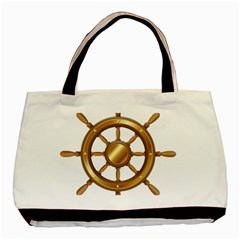 Boat Wheel Transparent Clip Art Basic Tote Bag by BangZart