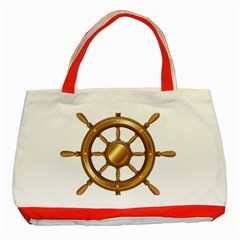 Boat Wheel Transparent Clip Art Classic Tote Bag (red)