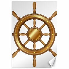 Boat Wheel Transparent Clip Art Canvas 24  X 36  by BangZart