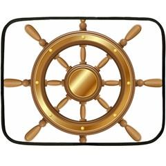 Boat Wheel Transparent Clip Art Fleece Blanket (mini) by BangZart