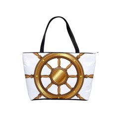 Boat Wheel Transparent Clip Art Shoulder Handbags by BangZart
