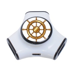Boat Wheel Transparent Clip Art 3 Port Usb Hub
