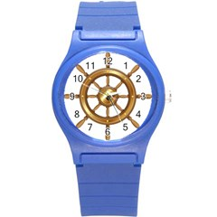 Boat Wheel Transparent Clip Art Round Plastic Sport Watch (s) by BangZart