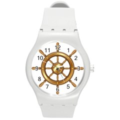 Boat Wheel Transparent Clip Art Round Plastic Sport Watch (m) by BangZart