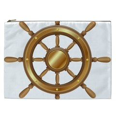 Boat Wheel Transparent Clip Art Cosmetic Bag (xxl)  by BangZart