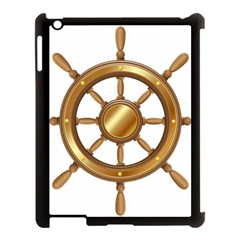Boat Wheel Transparent Clip Art Apple Ipad 3/4 Case (black)