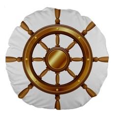 Boat Wheel Transparent Clip Art Large 18  Premium Round Cushions