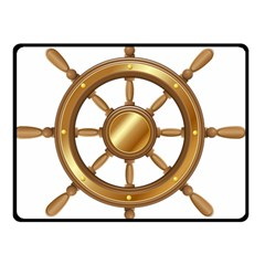Boat Wheel Transparent Clip Art Double Sided Fleece Blanket (small)  by BangZart