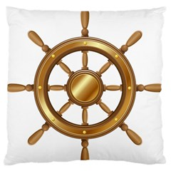 Boat Wheel Transparent Clip Art Large Flano Cushion Case (one Side)