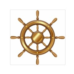 Boat Wheel Transparent Clip Art Small Satin Scarf (square) by BangZart
