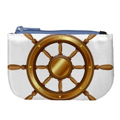 Boat Wheel Transparent Clip Art Large Coin Purse by BangZart