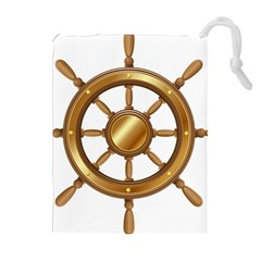 Boat Wheel Transparent Clip Art Drawstring Pouches (extra Large) by BangZart