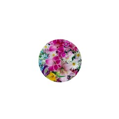 Colorful Flowers Patterns 1  Mini Buttons by BangZart