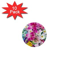 Colorful Flowers Patterns 1  Mini Magnet (10 Pack)