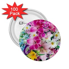 Colorful Flowers Patterns 2 25  Buttons (100 Pack)  by BangZart