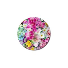 Colorful Flowers Patterns Golf Ball Marker by BangZart