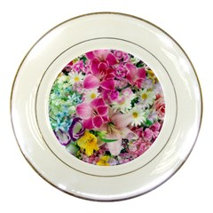 Colorful Flowers Patterns Porcelain Plates