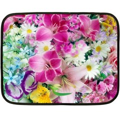 Colorful Flowers Patterns Fleece Blanket (mini)