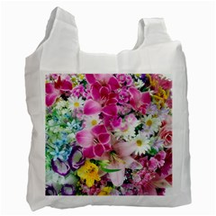 Colorful Flowers Patterns Recycle Bag (two Side)  by BangZart