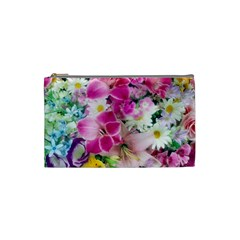 Colorful Flowers Patterns Cosmetic Bag (small)  by BangZart