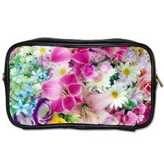 Colorful Flowers Patterns Toiletries Bags 2 Side by BangZart