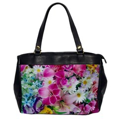 Colorful Flowers Patterns Office Handbags by BangZart