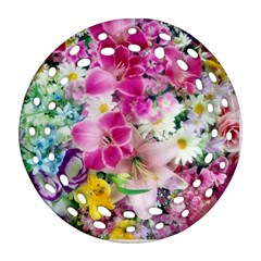 Colorful Flowers Patterns Round Filigree Ornament (two Sides) by BangZart