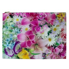 Colorful Flowers Patterns Cosmetic Bag (xxl)  by BangZart