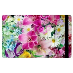 Colorful Flowers Patterns Apple Ipad 2 Flip Case by BangZart