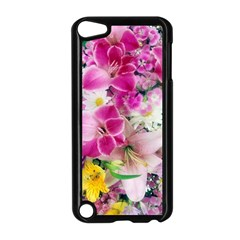 Colorful Flowers Patterns Apple Ipod Touch 5 Case (black)