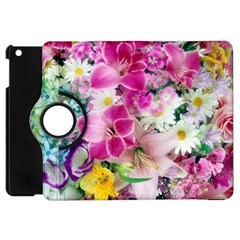 Colorful Flowers Patterns Apple Ipad Mini Flip 360 Case by BangZart