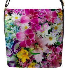 Colorful Flowers Patterns Flap Messenger Bag (s) by BangZart