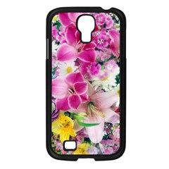 Colorful Flowers Patterns Samsung Galaxy S4 I9500/ I9505 Case (black)