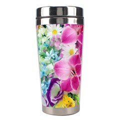Colorful Flowers Patterns Stainless Steel Travel Tumblers