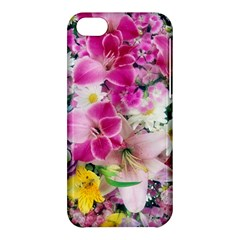 Colorful Flowers Patterns Apple Iphone 5c Hardshell Case by BangZart
