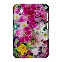 Colorful Flowers Patterns Samsung Galaxy Tab 2 (7 ) P3100 Hardshell Case