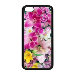 Colorful Flowers Patterns Apple Iphone 5c Seamless Case (black) by BangZart