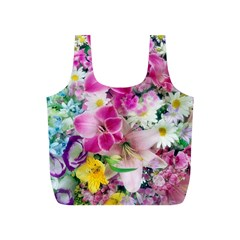 Colorful Flowers Patterns Full Print Recycle Bags (s)  by BangZart