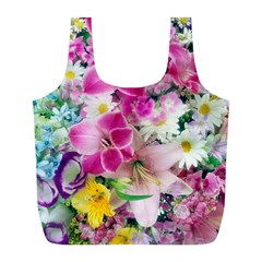 Colorful Flowers Patterns Full Print Recycle Bags (l)  by BangZart