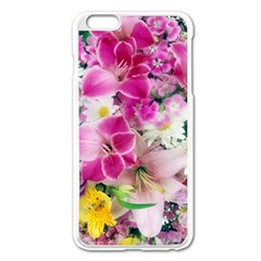 Colorful Flowers Patterns Apple Iphone 6 Plus/6s Plus Enamel White Case