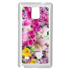 Colorful Flowers Patterns Samsung Galaxy Note 4 Case (white) by BangZart