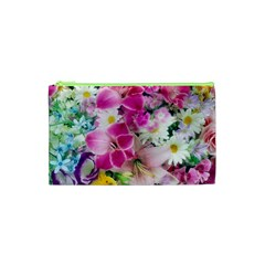 Colorful Flowers Patterns Cosmetic Bag (xs) by BangZart