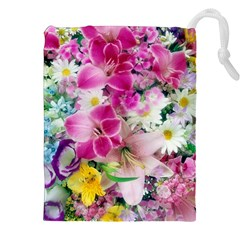 Colorful Flowers Patterns Drawstring Pouches (xxl) by BangZart