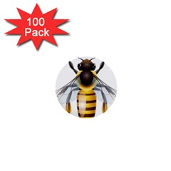 Bee 1  Mini Buttons (100 Pack)