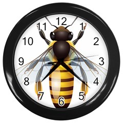 Bee Wall Clocks (black) by BangZart
