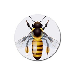 Bee Rubber Coaster (round)  by BangZart