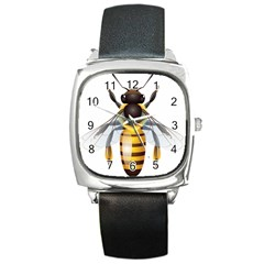 Bee Square Metal Watch by BangZart